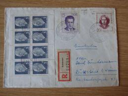 DDR, 07.03.1963, ULBRICHT-HEFTCHENBLATT Nr.10 Auf RECO-BELEG Mit STEMPEL Von ERSHAUSEN über HEILIGENSTADT (EICHSFELD) - Carnet