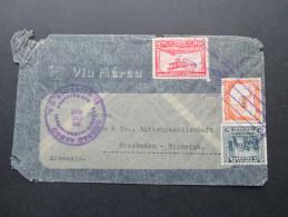 El Salvador 1932 Luftpostbeleg MiF. Deutliche Gebrauchsspuren - El Salvador