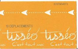 Ticket De Metro De Toulouse ( 10 Déplacements ) - Métro