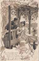 LIEBESPAAR ... Prägekarte, Gel.1903, Schweizer Frankierung - Paare