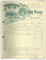 Facture - Léon Moure - Muscats, Quinquinas - Vermouths - 1900 – 1949