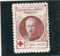 Vignette Militaire Croix Rouge - Association Des Dames Françaises - Général Hely D Oissel - Commemorative Labels