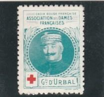 Vignette Militaire Croix Rouge - Association Des Dames Françaises - Général D Urbal - Commemorative Labels