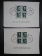 DR Deutsches Reich 1937 Block 7 & 8 Herzstück (MiNr 646 & 647) - Germania