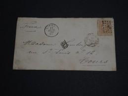 """BELGIQUE - Enveloppe  Pour La France En 1870 - Cachet D 'entrée """" Belgique à Quiévrain A""""""""  """" - A Voir- L 253 - 1869-1883 Leopold II"""