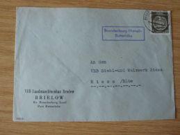 DDR, 1958, DIENSTBELEG Des VEB LANDMASCHINENBAU BRIELOW  Mit LANDPOST-STEMPEL BRANDENBURG (HAVEL)- BUTTERLAKE - Oficial