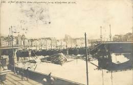 A-16 8772 :  LIEGE LE PONT DETRUIT  PREMIERS JOURS DE LA GUERRE DE 1914 CARTE-PHOTO. CACHET MILITAIRE - Liege