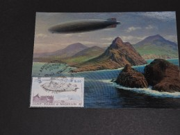 SAINT PIERRE ET MIQUELON - Carte Maximum Zeppelin En 1988 - A Voir- L 258 - Cartes-maximum