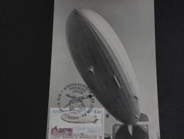 SAINT PIERRE ET MIQUELON - Carte Maximum Zeppelin En 1988 - A Voir- L 259 - Cartes-maximum