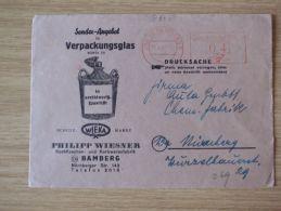 23.045.1949, FREISTEMPLER Mit WERBUNG PHILIPP WIESNER, KORBFLASCHEN-und KORBWARENFABRIK Mit STEMPEL Von BAMBERG 2 - Zona Anglo-Américan