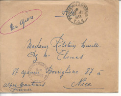 """""""poste Aux Armées T.O.E.""""  1953 Cachet """"le Vaguemestre Du SP 50665"""" - Marcophilie (Lettres)"""