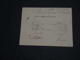 FRANCE - Enveloppe En Franchise Avec Cachet Du 5ème Et 35ème Coloniaux Détaché De Valbonne De Lyon 1915- A Voir- L 262 - Marcofilia (sobres)