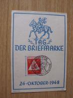 24.10.1948, SONDERKARTE Zum TAG DER BRIEFMARKE Mit SONDERSTEMPEL Von DRESDEN - Sowjetische Zone (SBZ)