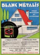 Courcelles ,publicité ,EMILE GOMEZ ,peinture ,médaille D'or Exposition Bruxelles 1935 - Petits Métiers