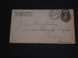 ETATS UNIS - Entier Postal ( Enveloppe) De Hartford Pour La France En 1883 - A Voir- L 264 - Enteros Postales