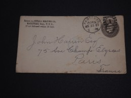 ETATS UNIS - Entier Postal ( Enveloppe) De Hartford Pour La France En 1883 - A Voir- L 264