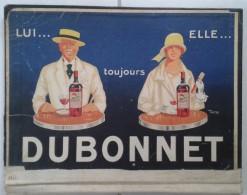 Porte Menu Ou Sous Main Publicitaire: DUBONNET Et Champagne MORLANT: 37x27 - Publicités