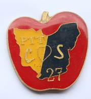 Pin's PTT COS 27 - Pomme - Carte Du Département De L'Eure - A.c.s.e.l - F641 - Mail Services