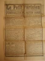 Journal - Le Petit Parisien - Mercredi 3 Juin 1885 - Funérailles De Victor Hugo - - Journaux - Quotidiens