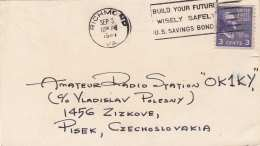USA 1948 - 3 C Auf QSL-Karte Gel.v. Richmond > Zizkove - Vereinigte Staaten