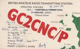 JERSEY CHANNEL ISLAND 1949 - QSL-Karte - Radio