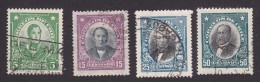 Chile, Scott #163, 165, 167, 169, Used, Famous Chilean, Issued 1929 - Chile