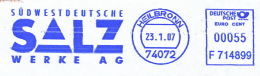 Freistempel 2645 Südwestdeutsche Salz - Machine Stamps (ATM)