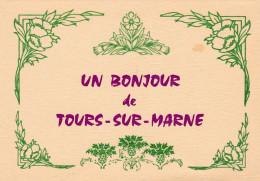 TOURS SUR MARNE CARTE DE PARTICIPATION N° 253/26/02/1995 (dil235) - Collector Fairs & Bourses