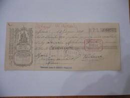 ASSEGNO BANCA POPOLARE DI LECCO   1910 - Assegni & Assegni Di Viaggio