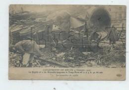 Melun (77) : Gp De La Locomotive Du Train Poste Après La Catastrophe En 1913 (animé) PF. - Melun