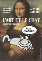 CP Expo Philippe Geluck - L'Art Et Le Chat - Musée En Herbe 2016 - Geluck