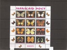Papillons ( Série De 12 Timbres XXX -MNH- De MANILAID POST) - Butterflies