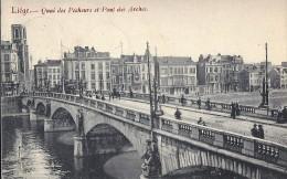 LIEGE - Les Ponts : Quai Des Pècheurs Et Pont Des Arches (1907) Belle Animation - Liege