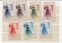 7 Vignettes Neuves Marianne De Gandon Expo 1945 - Esposizioni Filateliche