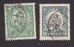 Chile, Scott #163, 169, Used, Famous Chilean, Issued 1929 - Chile