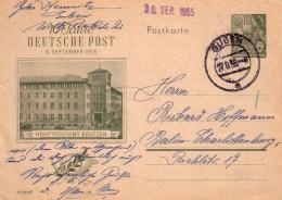 Privatganzsache Von Bautzen Mit BM 5 - Jahresplan / Gelaufen 1955 - [6] République Démocratique