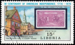 LIBERIA - Scott #705 The 200th Anniversary Of American Independence / Used Stamp - Liberia