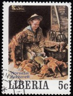 LIBERIA - Scott #853e Scout Paintings By Norman Rockwell / Used Stamp - Liberia