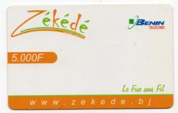 BENIN RECHARGE GSM BENIN TELECOM 5000 F - Benin