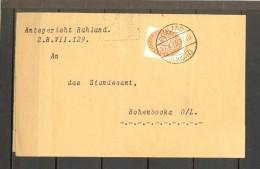 ALEMANIA 1933 , SOBRE CIRCULADO ENTRE RUHLAND Y HOHENBOCKA , SELLO DE SERVICIO - Alemania