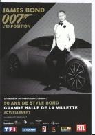 James Bond 007 - Aston Martin - 50 ANS DE STYLE BOND Halles De La Villette - Daniel Graig - Cpm 2016 - Attori