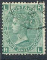 GREAT BRITAIN   54, Used, VF, SCV$40, Sound,, Pl#6, Green...  (gb054-9, S.G.  117.....[16-dt - 1840-1901 (Victoria)