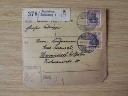 24.09.1912, PAKETKARTE Von MAGDEBURG-SUDENBURG Nach HERMSDORF Bei BERLIN - Briefe U. Dokumente