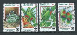 Tonga Niuafo´ou 1998 Birds Lorikeets WWF Set 4 Mint - Tonga (1970-...)