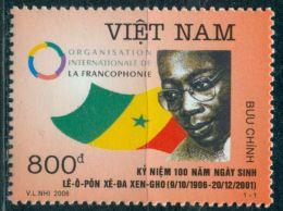 VIETNAM 2006 100TH BIRTH ANNIV. OF LEOPOLD SEDAR SENGHOR MNH M00380 - Viêt-Nam