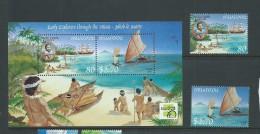 Tonga Niuafo´ou 1999 Explorers & Ship Set 2 & Miniature Sheet Mint - Tonga (1970-...)