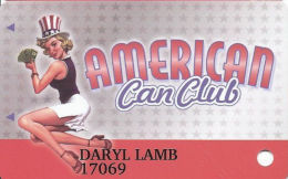 Cannery Casino Las Vegas, NV Slot Card - PPC Over Mag Stripe - Purple Insert Arrows - Casino Cards