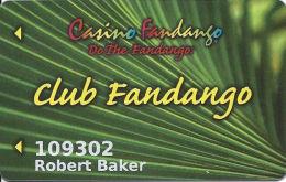 Casino Fandango Carson City, NV Slot Card - 8 Lines In Reverse Paragraph - Casino Cards