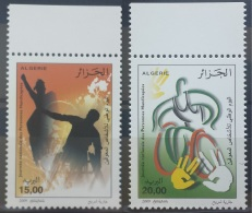 Algeria 2009 MNH Complete Set 2v. - National Day Of Disabled People, People With Disabilities - Algeria (1962-...)