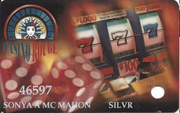 Casino Rouge - Baton Rouge, LA - Slot Card - SILVR Level - Casino Cards